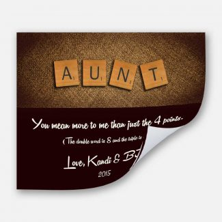 Aunt Scrabble Letters Custom Art Gift
