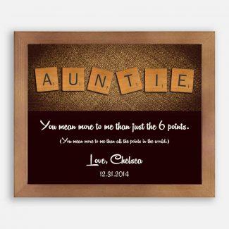 Auntie Letter Tile Art Custom Art