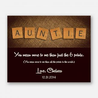 Auntie Letter Tile Art Custom Art