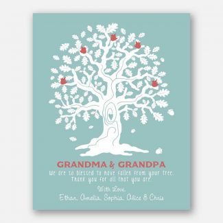 Grandma And Grandpa Oak Tree And