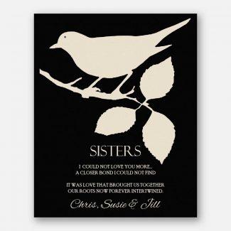 Sister Gift For Birthday Bird on