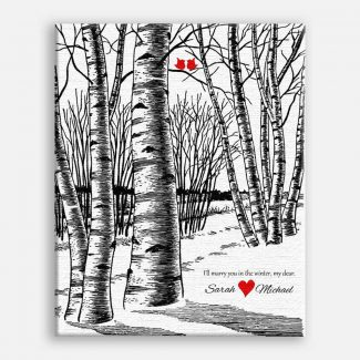 10th Anniversary Bare Birch Trees Marry
