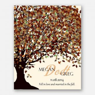 10th Anniversary Fell In Love And Married In The Fall Canopy on Cream Background #CWA-1087