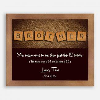 Brother Scrabble Letter Tiles Unique Gift