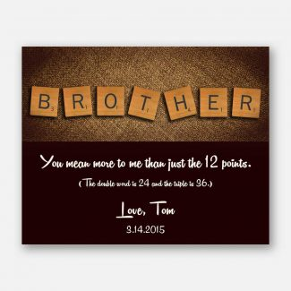 Brother Scrabble Letter Tiles Unique Gift
