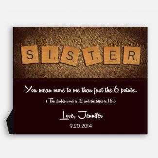 Sister Scrabble Letter Tiles Unique Gift