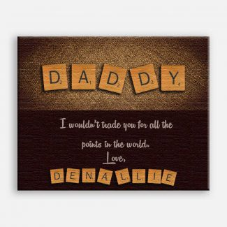 Daddy Letter Tile Art Fathers Day