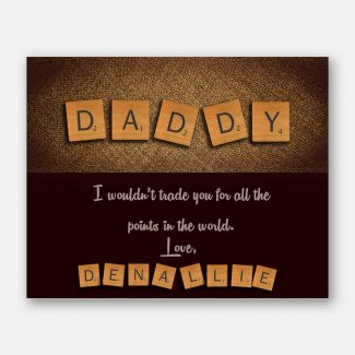 Daddy Scrabble Tile Letters Fathers Day