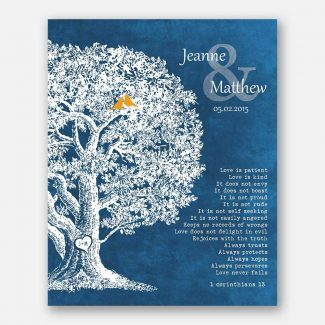 Personalized Family Tree Anniversary Plaque 1