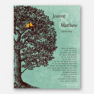 Personalized Gift Family Tree Anniversary Plaque