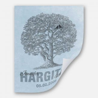 10th Anniversary Family Tree Oak Tree