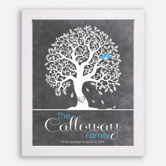 Couple Family Tree Anniversary Gift Tenth