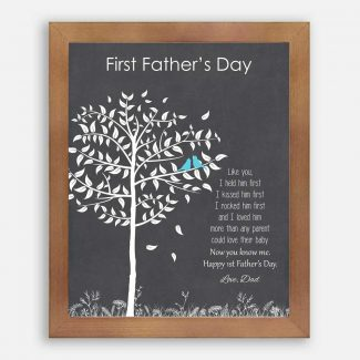 First Fathers Day From Mom or