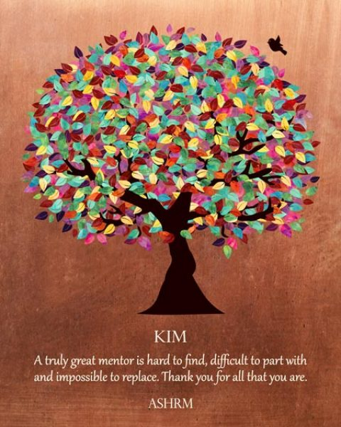 Colorful Mentor Gift Faux Copper Background Thank You – Personalized for Franchesca