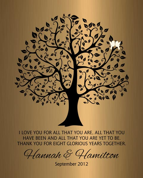 Personalized 8 Year Anniversary Gift Custom Art Proof for Hamilton G.
