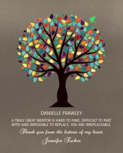 Read more about the article Truly Great Mentor Colorful Watercolor Tree Boss Teacher Thank You Gift – Personalized for Jennifer