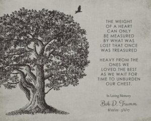 Read more about the article Memorial Plaque In Loving Memory Poem Oak Tree Sympathy Gift For Family – Personalized For Kendra