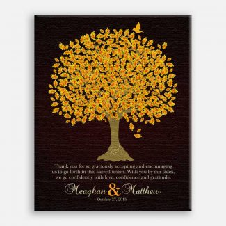 Thank You Gift For Parents Personalized Gift For Mother of Groom or Bride Family Wedding Poem Tree Gift For Mom and Dad #LT-1105