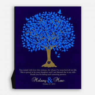 Mother of Bride Thank You Gift For Parents Personalized Gift For Bride's Family Wedding Poem Tree Gift For Mom and Dad #LT-1106