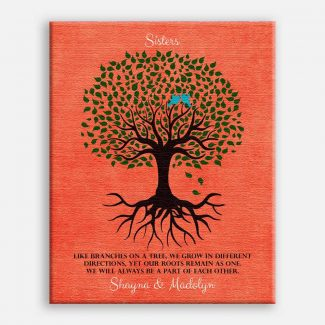 Gift For Sister Family Tree Roots