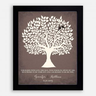 Personalized Gift For Mother of Groom You Raised With Love This Man Wedding Poem Tree Gift For Mom and Dad #LT-1116