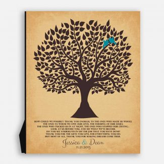 Personalized Thank You Gift For Parents Mother of Groom or Bride How Could We Possibly Thank You #LT-1118