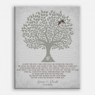 Personalized Thank You Gift For Mother of Groom I Knew The Day I Met Him Parents of Groom Gift #LT-1120
