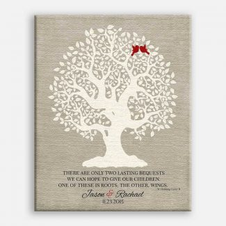 Personalized Thank You Gift For Parents Hodding Cer Quote Two Lasting Bequests Gift For Mother of Groom or Bride Family Wedding Poem Tree #LT-1122