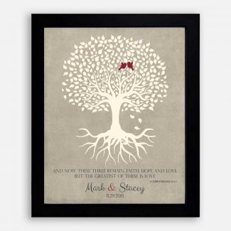 1 Corinthians 13 Personalized Thank You Gift For Parents Faith Hope Love Gift For Mother of Groom or Bride Family Wedding Poem Tree #LT-1123