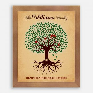 Custom Family Tree Roots Firmly Planted
