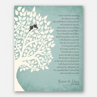 1st First Wedding Anniversary Paper 1 Corinthians 13 Love Is Patient Gift For Couple Wedding Poem Tree 1st 2nd 10th Gift For Mom and Dad #LT-1130