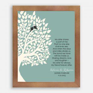 Gift For Sister Family Tree Sister
