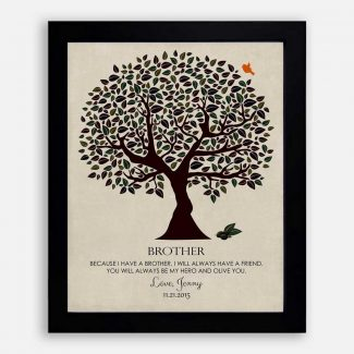 Personalized Gift For Brother Olive Tree