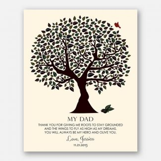 Personalized Gift For Father Olive You Tree Dad's Birthday Father's Day Wedding Gift Thank You #LT-1175