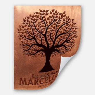 Family Tree Faux Copper Background Established