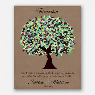 Personalized Gift For Friendship Poem Green