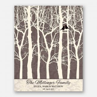 40 Year Anniversary Gift Bare Trees