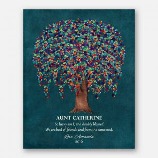 Personalized Gift For Aunt Colorful Watercolor