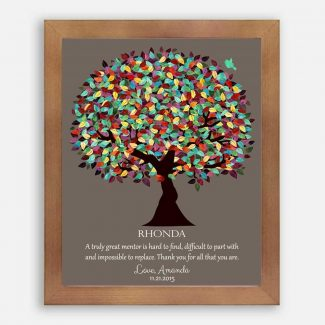 Gift For Mentor Colorful Spring Tree