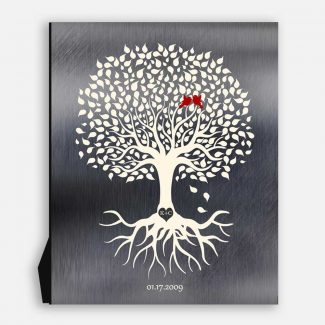 Family Tree With Roots Minimalist Design