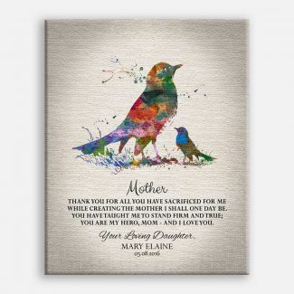 Gift For Mother's Day Watercolor Birds