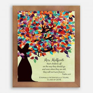 Psalm 22:6 Personalized Watercolor Tree Gift