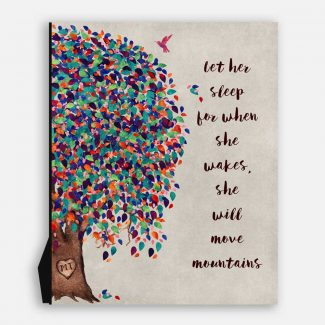 Let Her Sleep Personalized Nursery Tree