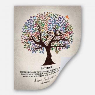 Two Lasting Bequests Quote Personalized Gift