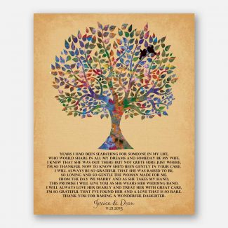 Mother of Bride Watercolor Family Tree