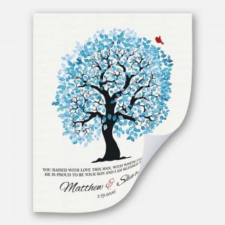 You Raised With Love Personalized Blue