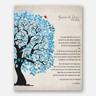 Blue And White Wedding Tree Shibori