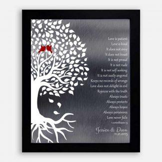 1 Corinthians Wedding Tree Roots Lovebirds