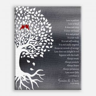 1 Corinthians Wedding Tree Roots Lovebirds