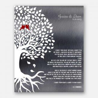E.E. Cummings Poetry Wedding Tree Roots